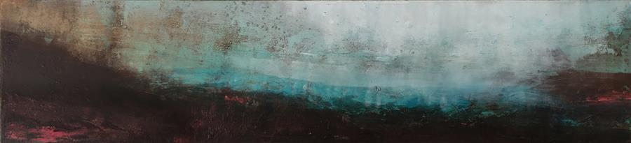 Original art for sale at UGallery.com | I Walk Alone to Be with You by Agata Kijanka | $1,300 | mixed media artwork | 10' h x 42' w | ..\art\mixed-media-artwork-I-Walk-Alone-to-Be-with-You
