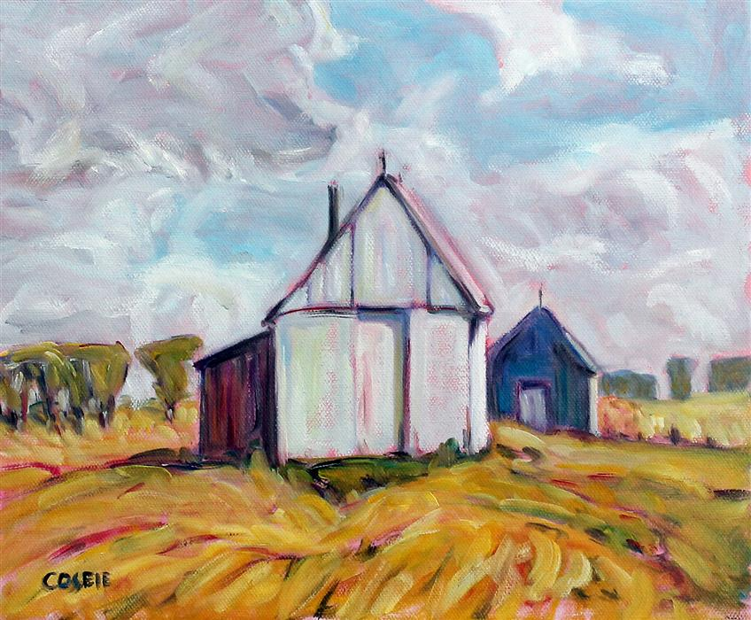 Original art for sale at UGallery.com | Madison County, Virginia Farm by Doug Cosbie | $300 | oil painting | 10' h x 12' w | ..\art\oil-painting-Madison-County-Virginia-Farm