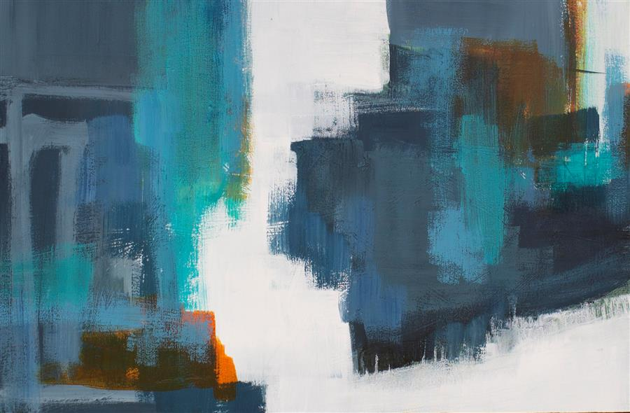 Original art for sale at UGallery.com | Drifting by Jane Robinson | $1,250 | acrylic painting | 30' h x 40' w | ..\art\acrylic-painting-Drifting-67093