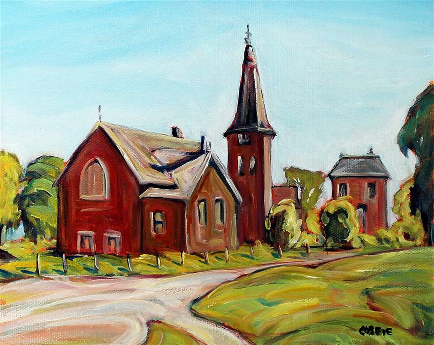 Original art for sale at UGallery.com | Woodlawn, Ontario by Doug Cosbie | $250 | oil painting | 8' h x 10' w | ..\art\oil-painting-Woodlawn-Ontario