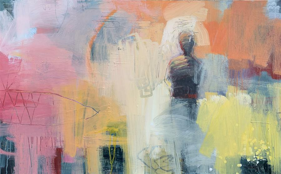 Original art for sale at UGallery.com | Morning of Solitude by Gena Brodie Robbins | $3,700 | acrylic painting | 30' h x 48' w | ..\art\acrylic-painting-Morning-of-Solitude