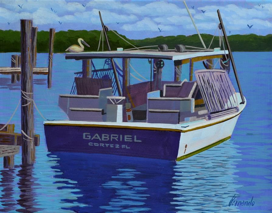 Original art for sale at UGallery.com | Gabriel by Fernando Soler | $350 | acrylic painting | 12' h x 14' w | ..\art\acrylic-painting-Gabriel