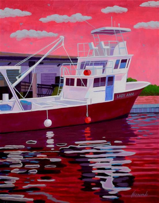 Original art for sale at UGallery.com | Lady Ann 2 by Fernando Soler | $675 | acrylic painting | 24' h x 18' w | ..\art\acrylic-painting-Lady-Ann-2