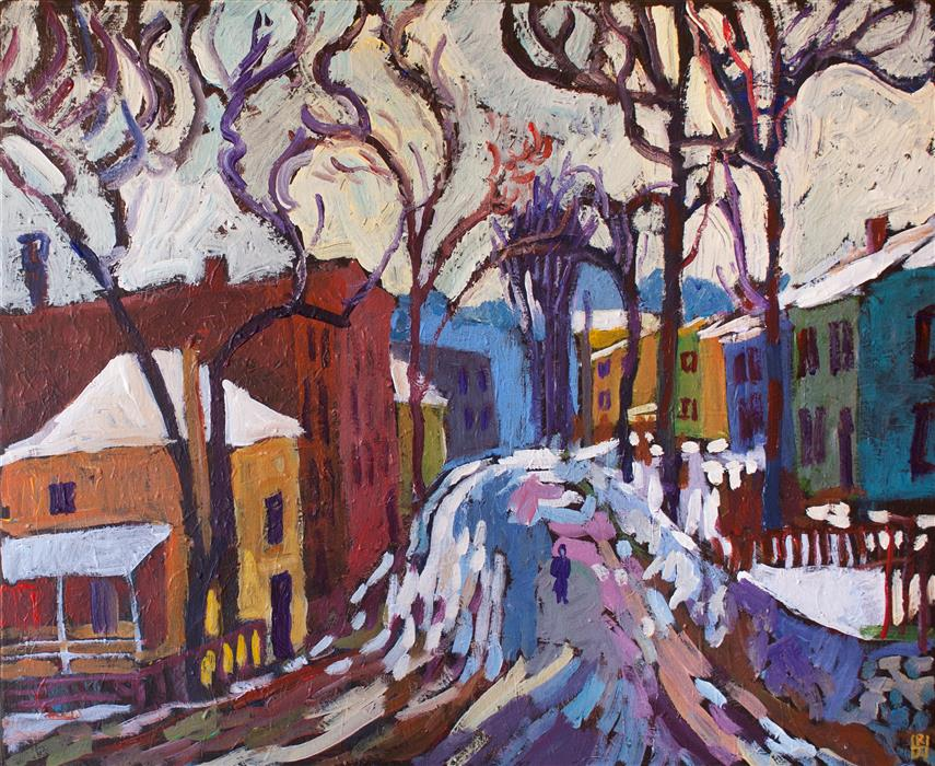 Original art for sale at UGallery.com   Thaw by Robert Hofherr   $1,275   acrylic painting   24' h x 30' w   ..\art\acrylic-painting-Thaw