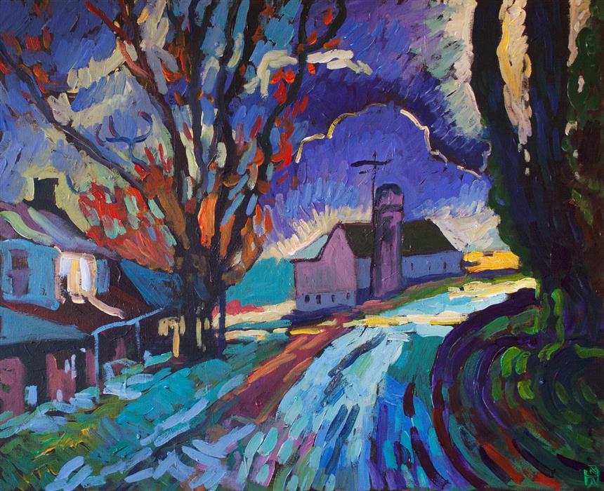 Original art for sale at UGallery.com | Evans Corner by Robert Hofherr | $1,325 | acrylic painting | 24' h x 30' w | ..\art\acrylic-painting-Evans-Corner