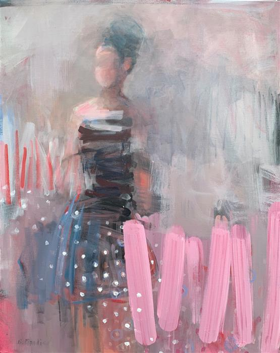 Original art for sale at UGallery.com | Polka Dot Dreams by Gena Brodie Robbins | $1,775 | acrylic painting | 30' h x 24' w | ..\art\acrylic-painting-Polka-Dot-Dreams