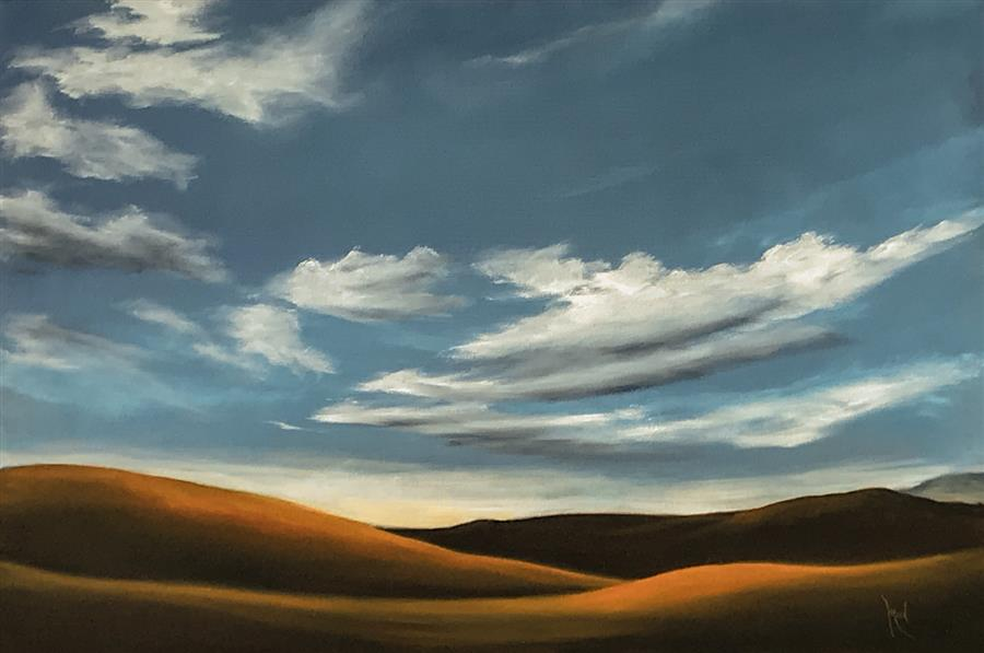 Original art for sale at UGallery.com | Golden Hills XXIII by Mandy Main | $1,700 | oil painting | 24' h x 36' w | ..\art\oil-painting-Golden-Hills-XXIII