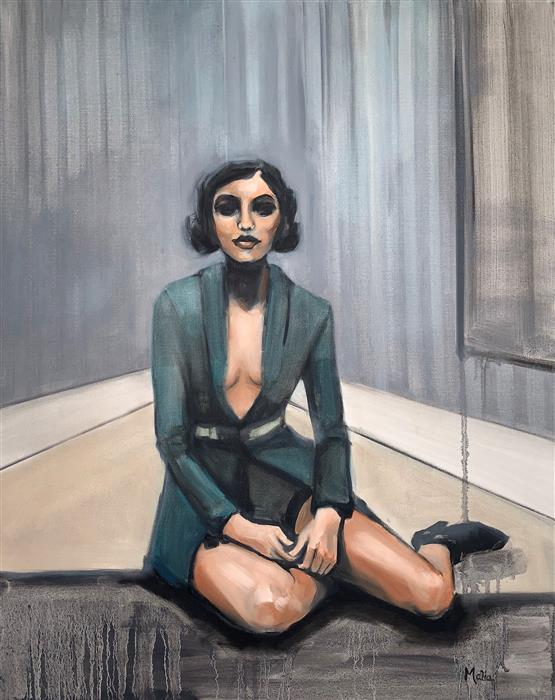 Original art for sale at UGallery.com | Not the Girl I Used to Be by Malia Pettit | $1,425 | oil painting | 30' h x 24' w | ..\art\oil-painting-Not-the-Girl-I-Used-to-Be