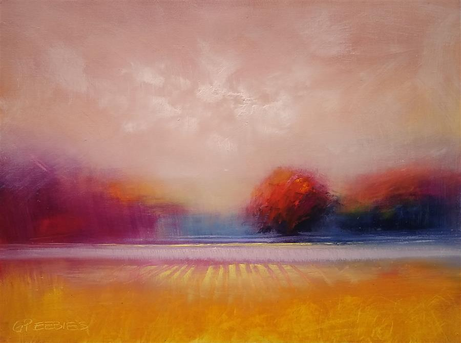 Original art for sale at UGallery.com | Sweet Dusk by George Peebles | $575 | oil painting | 18' h x 24' w | ..\art\oil-painting-Sweet-Dusk