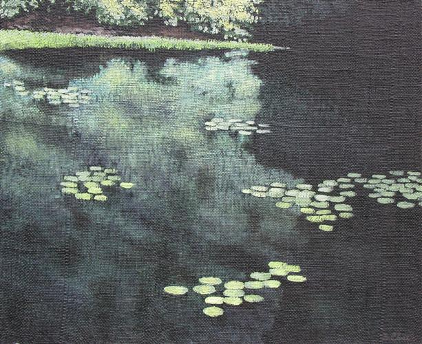 Original art for sale at UGallery.com   Summer Pond by Barry Close   $825   acrylic painting   20' h x 24' w   http://www.ugallery.com/acrylic-painting-summer-pond