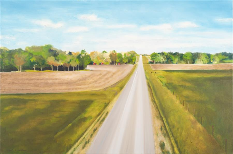 Original art for sale at UGallery.com | The Road by Susan Walker | $2,000 | oil painting | 24' h x 36' w | ..\art\oil-painting-The-Road-67264
