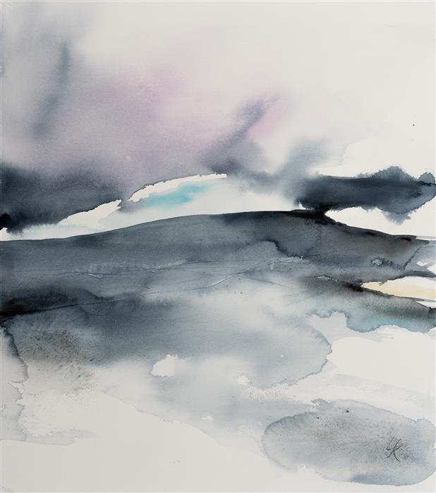 Original art for sale at UGallery.com | Abstract Landscape IX by Yuriy Kraft | $600 | watercolor painting | 22' h x 19.7' w | ..\art\watercolor-painting-Abstract-Landscape-IX