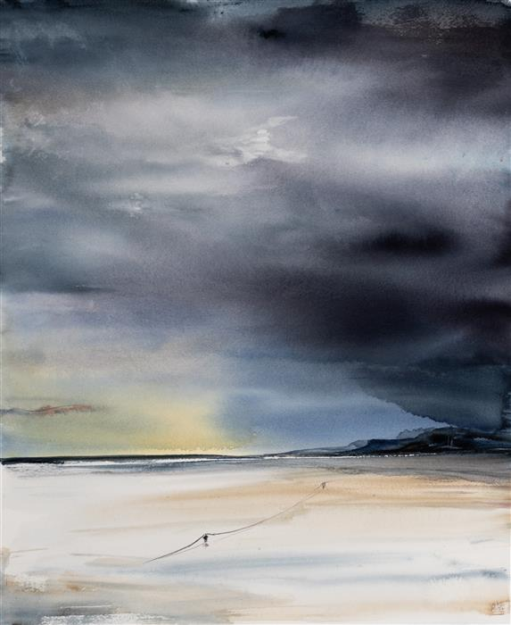 Original art for sale at UGallery.com | Normandy III by Yuriy Kraft | $650 | watercolor painting | 22.4' h x 18.5' w | ..\art\watercolor-painting-Normandy-III