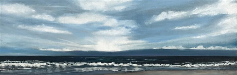 Original art for sale at UGallery.com | Sublime Coast X by Mandy Main | $1,000 | oil painting | 12' h x 36' w | ..\art\oil-painting-Sublime-Coast-X