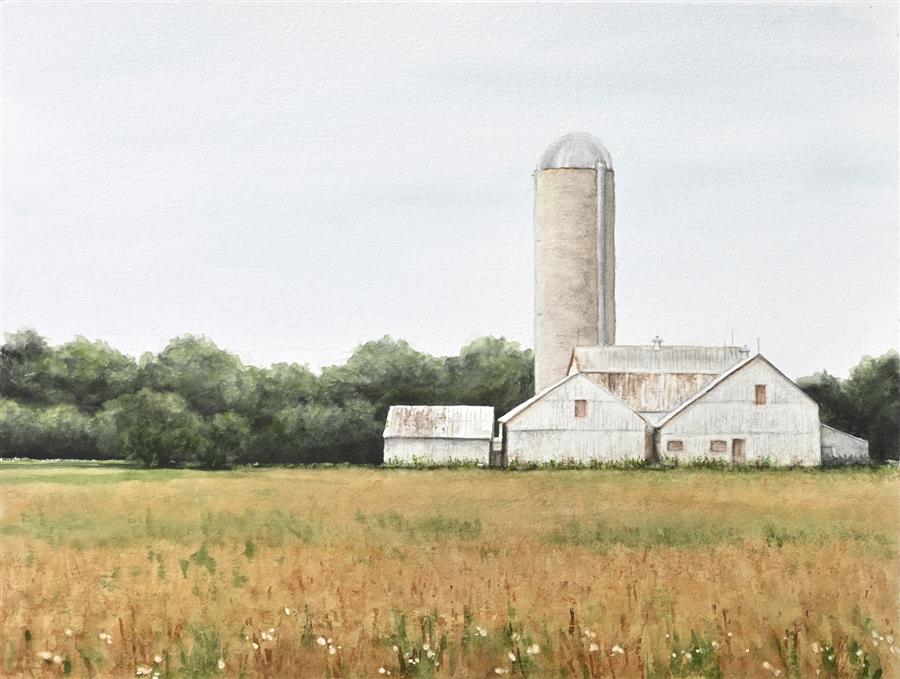 Original art for sale at UGallery.com | Quiet Nostalgia by Jill Poyerd | $1,500 | watercolor painting | 18' h x 24' w | ..\art\watercolor-painting-Quiet-Nostalgia