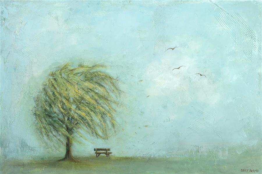 Original art for sale at UGallery.com | Resting Place II by Sally Adams | $1,950 | acrylic painting | 24' h x 36' w | ..\art\acrylic-painting-Resting-Place-II