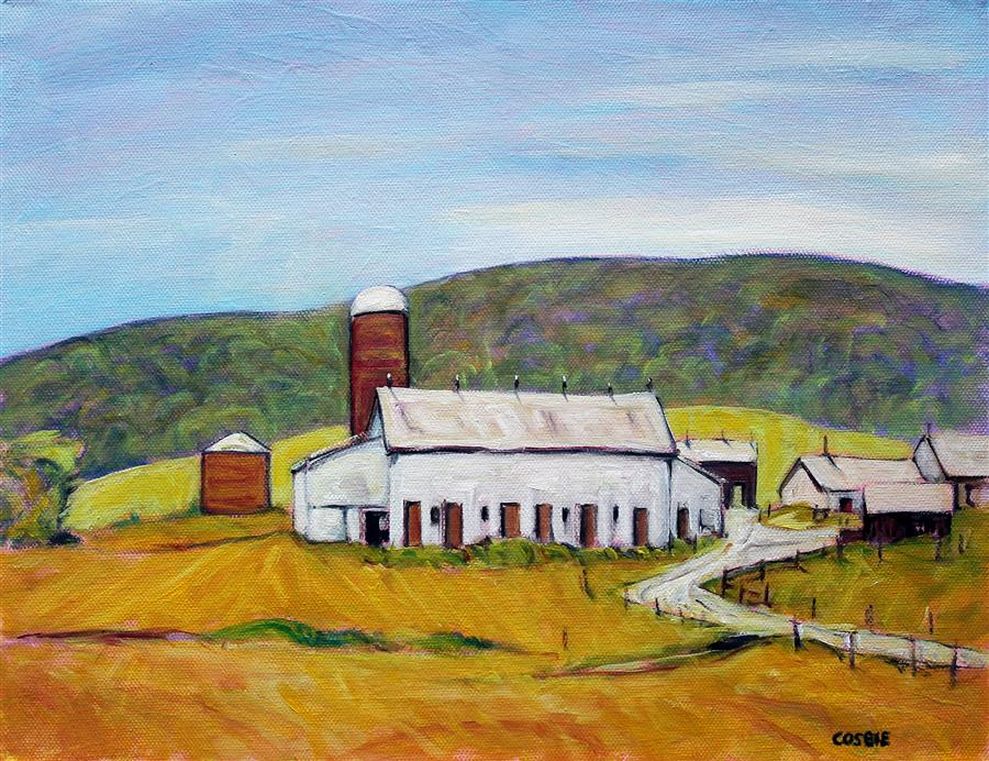 Original art for sale at UGallery.com | Lycoming County, PA Farm by Doug Cosbie | $375 | oil painting | 11' h x 14' w | ..\art\oil-painting-Lycoming-County-PA-Farm
