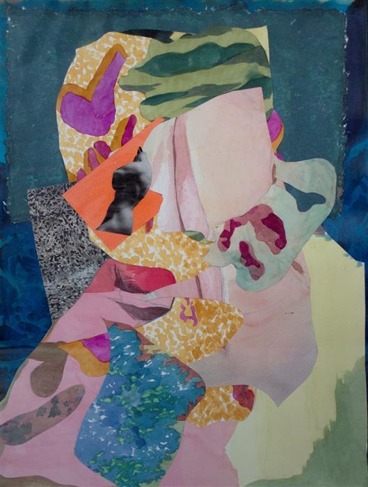 Original art for sale at UGallery.com | Composite by Grace Cadence | $2,200 | mixed media artwork | 34' h x 25' w | ..\art\mixed-media-artwork-Composite