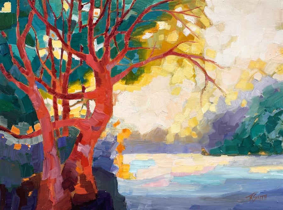 Original art for sale at UGallery.com | Madrone by Teresa Smith | $425 | oil painting | 12' h x 16' w | ..\art\oil-painting-Madrone