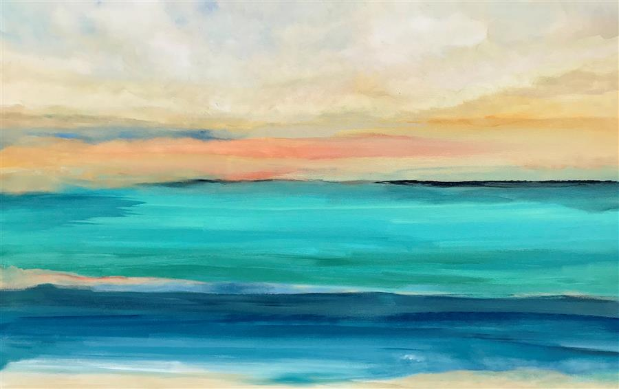 Original art for sale at UGallery.com   Island's End by Alicia Dunn   $2,400   acrylic painting   30' h x 48' w   ..\art\acrylic-painting-Island-s-End