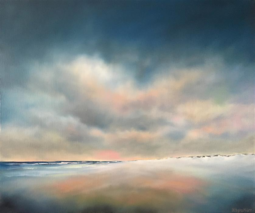 Original art for sale at UGallery.com | Beckoning Beach II by Nancy Hughes Miller | $825 | oil painting | 20' h x 24' w | ..\art\oil-painting-Beckoning-Beach-II