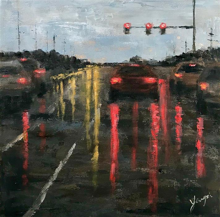 Original art for sale at UGallery.com | Drive by Yangzi Xu | $400 | oil painting | 12' h x 12' w | ..\art\oil-painting-Drive