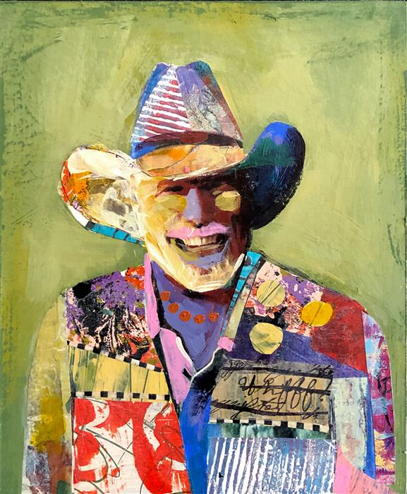 Original art for sale at UGallery.com | Happy Boy (Study) by Darlene McElroy | $425 | mixed media artwork | 10' h x 8' w | ..\art\mixed-media-artwork-Happy-Boy-Study