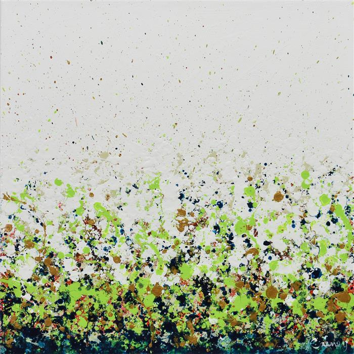 Original art for sale at UGallery.com | Potpourri 17 by Lisa Carney | $625 | acrylic painting | 16' h x 16' w | ..\art\acrylic-painting-Potpourri-17
