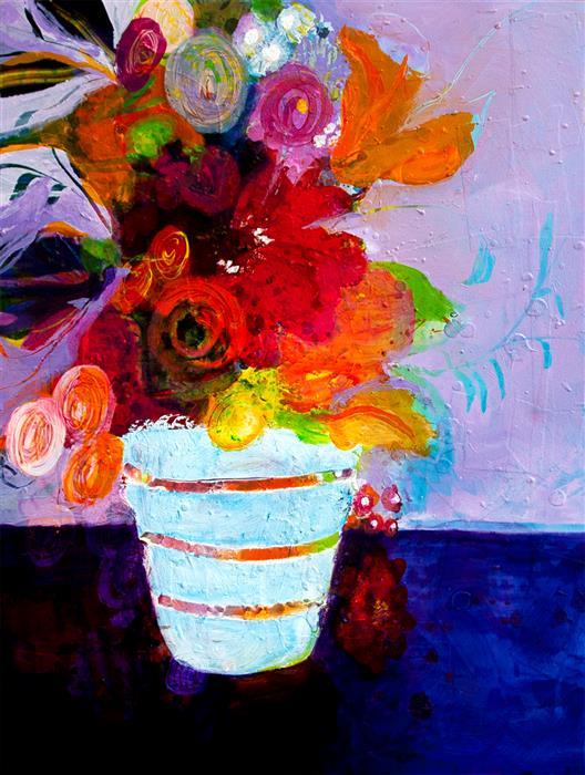 Original art for sale at UGallery.com | Bijou by Ruth-Anne Siegel | $800 | mixed media artwork | 24' h x 18' w | ..\art\mixed-media-artwork-Bijou