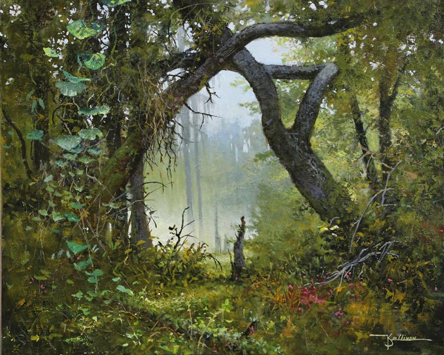 Original art for sale at UGallery.com | Southern Spring by Kent Sullivan | $1,600 | oil painting | 16' h x 20' w | ..\art\oil-painting-Southern-Spring
