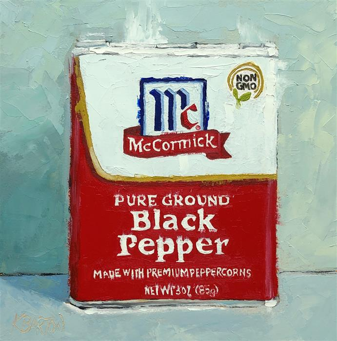 Original art for sale at UGallery.com | Premium Pepper by Karen Barton | $375 | oil painting | 8' h x 8' w | ..\art\oil-painting-Premium-Pepper