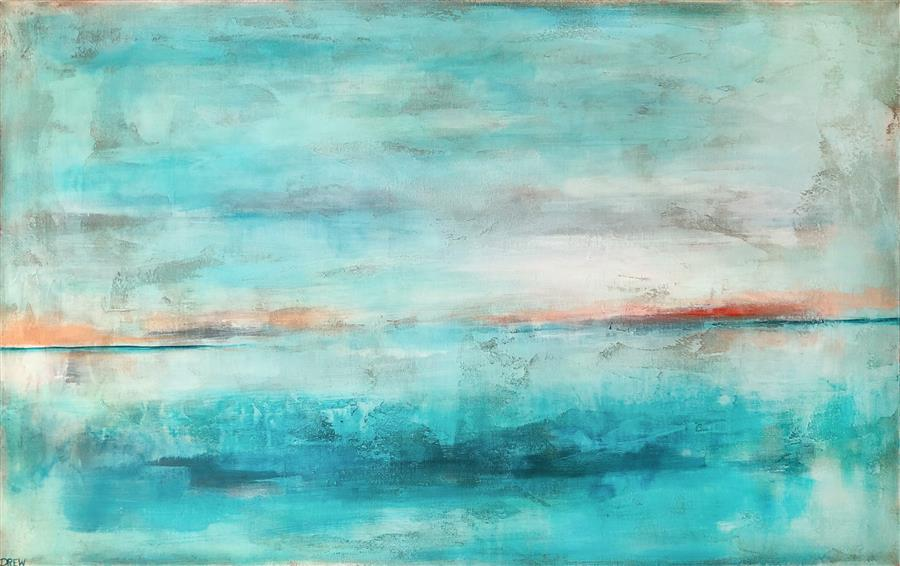 Original art for sale at UGallery.com | Present Moment by Drew Noel Marin | $3,400 | acrylic painting | 30' h x 48' w | ..\art\acrylic-painting-Present-Moment