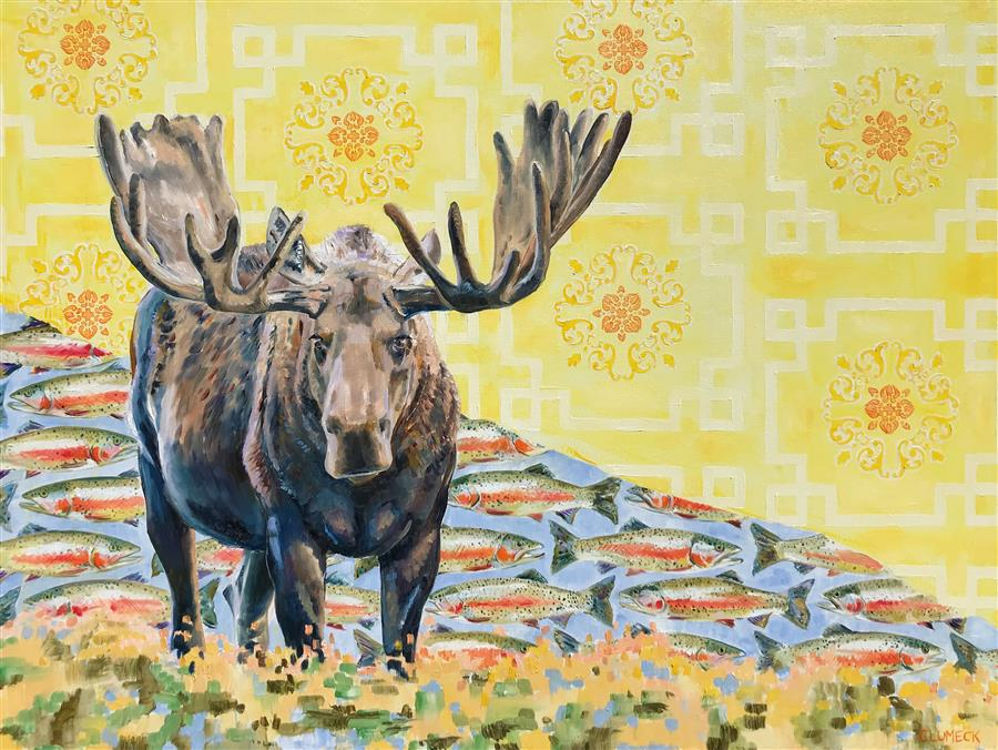 Original art for sale at UGallery.com | Sunshine by Alana Clumeck | $2,175 | oil painting | 30' h x 40' w | ..\art\oil-painting-Sunshine