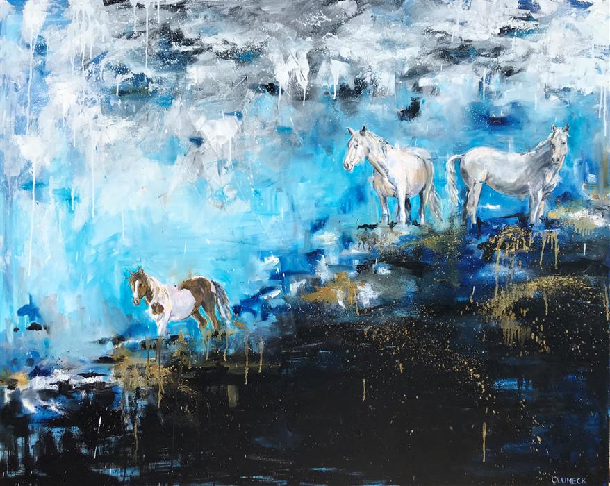 Original art for sale at UGallery.com | Stormy by Alana Clumeck | $4,000 | oil painting | 48' h x 60' w | ..\art\oil-painting-Stormy
