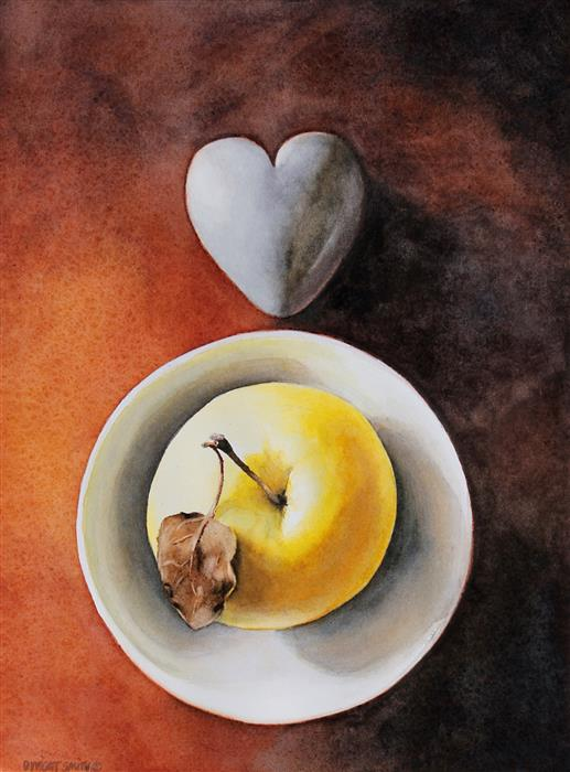 Original art for sale at UGallery.com | Of Pure Heart by Dwight Smith | $400 | watercolor painting | 12' h x 9' w | ..\art\watercolor-painting-Of-Pure-Heart