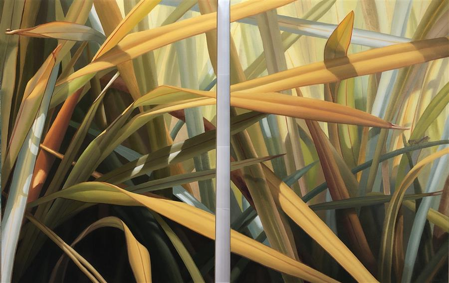 Original art for sale at UGallery.com | Look Into It (diptych) by Elizabeth Rickert | $5,375 | oil painting | 40' h x 62' w | ..\art\oil-painting-Look-Into-It-diptych