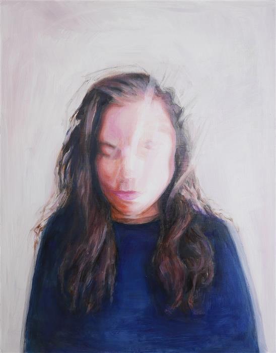 Original art for sale at UGallery.com | Broken Sleep by Kristen Brown | $675 | oil painting | 14' h x 11' w | ..\art\oil-painting-Broken-Sleep