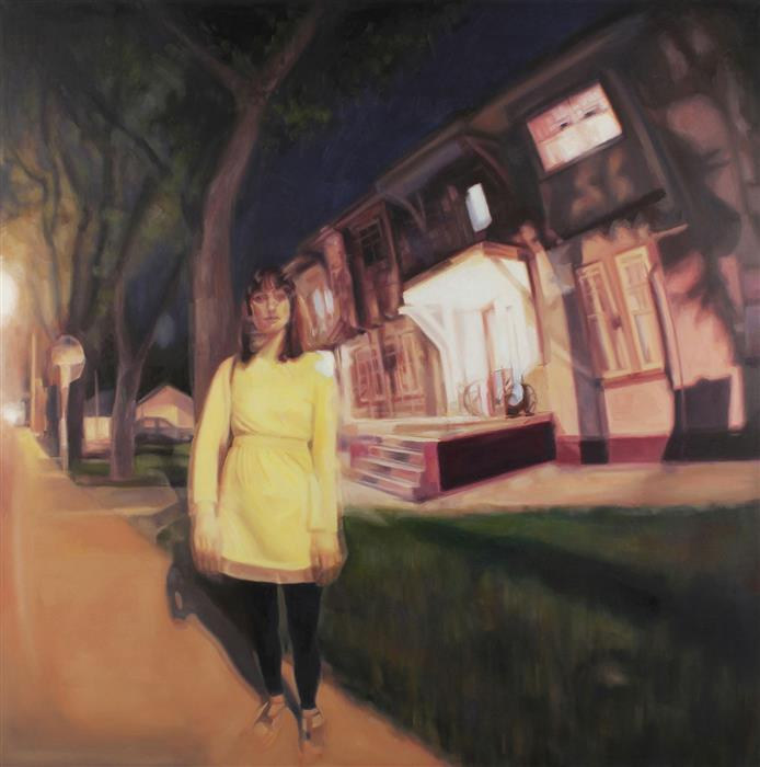 Original art for sale at UGallery.com | No Cars Go by Kristen Brown | $4,500 | oil painting | 48' h x 48' w | ..\art\oil-painting-No-Cars-Go