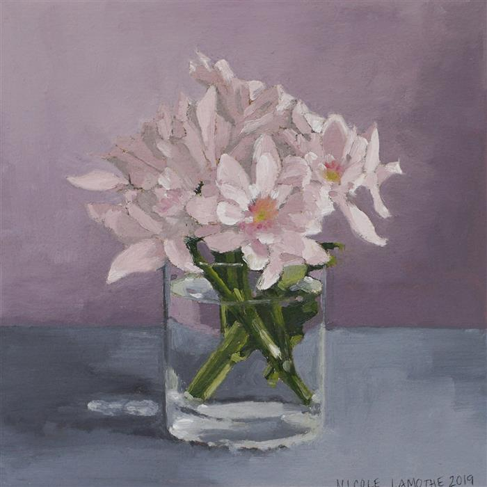 Original art for sale at UGallery.com | Petite Bouquet by Nicole Lamothe | $250 | oil painting | 8' h x 8' w | ..\art\oil-painting-Petite-Bouquet