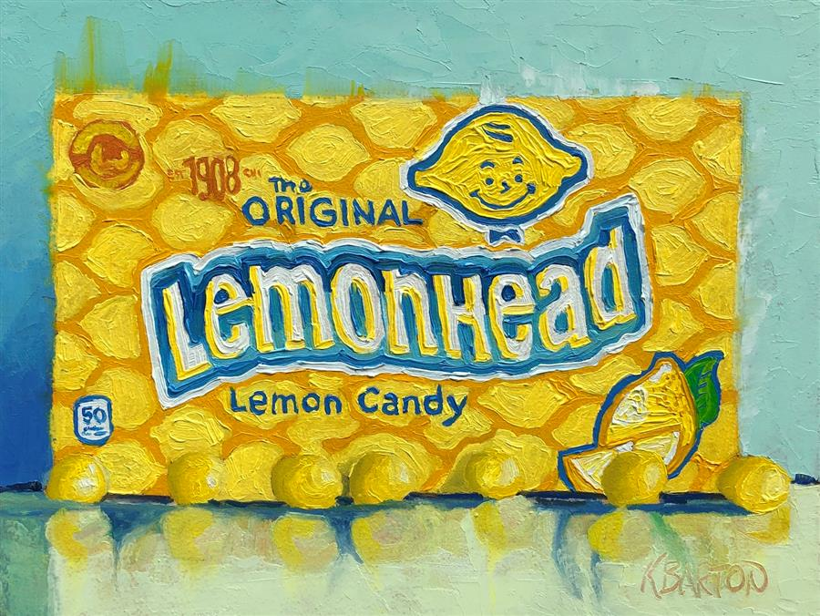 Original art for sale at UGallery.com | Lemony Goodness by Karen Barton | $325 | oil painting | 6' h x 8' w | ..\art\oil-painting-Lemony-Goodness