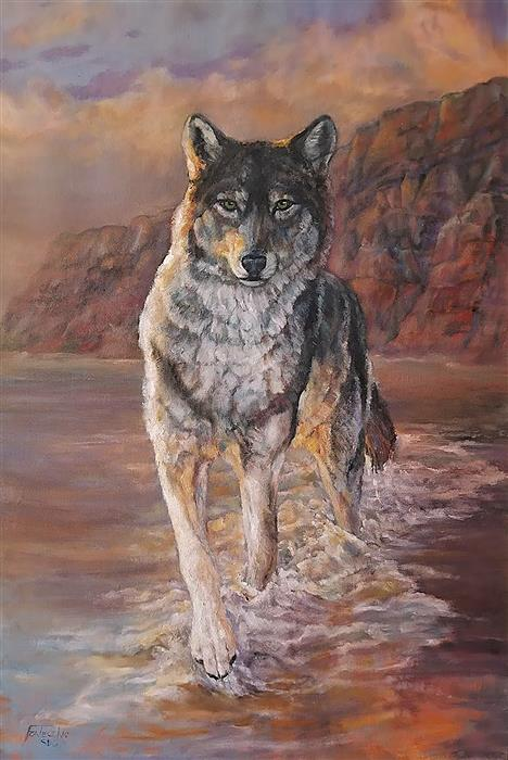 Original art for sale at UGallery.com | Splash by Jan Fontecchio Perley | $1,675 | oil painting | 30' h x 20' w | ..\art\oil-painting-Splash-67682