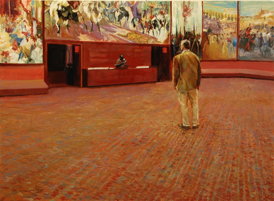 Original art for sale at UGallery.com | Overwhelmed by Sorolla by Onelio Marrero | $1,125 | oil painting | 18' h x 24' w | ..\art\oil-painting-Overwhelmed-by-Sorolla