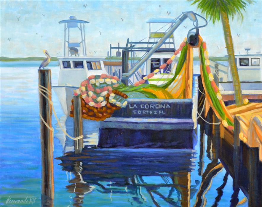 Original art for sale at UGallery.com | La Corona by Fernando Soler | $625 | oil painting | 16' h x 20' w | ..\art\oil-painting-La-Corona