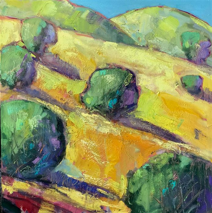 Original art for sale at UGallery.com | Mount Diablo Trees by James Hartman | $1,950 | oil painting | 30' h x 30' w | ..\art\oil-painting-Mount-Diablo-Trees