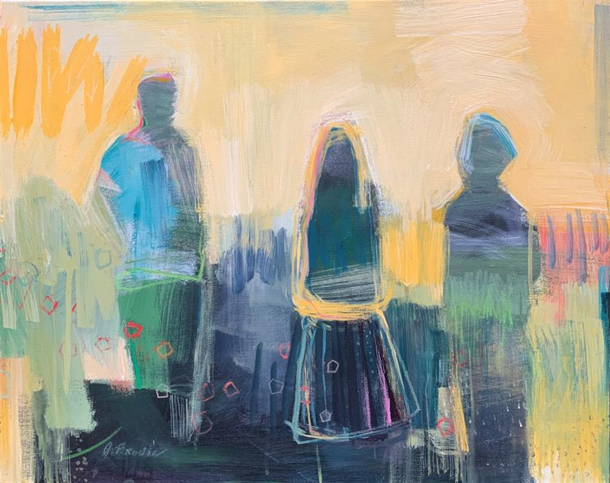 Original art for sale at UGallery.com | The Three of Us by Gena Brodie Robbins | $1,775 | acrylic painting | 24' h x 30' w | ..\art\acrylic-painting-The-Three-of-Us