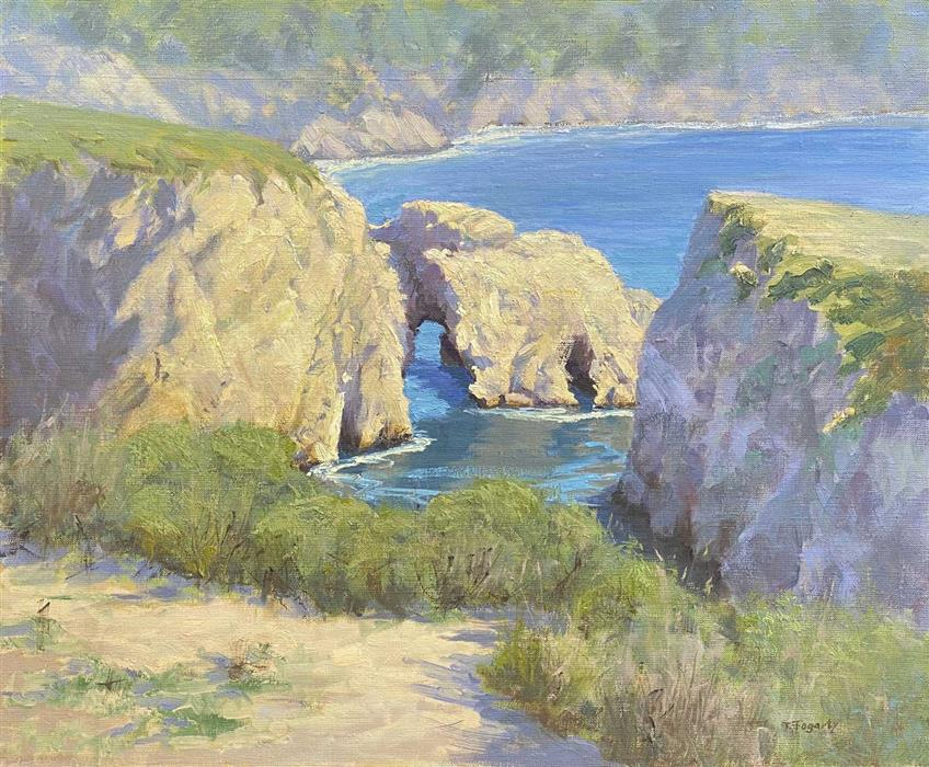 Original art for sale at UGallery.com | Point Lobos Arches by Tatyana Fogarty | $1,750 | oil painting | 20' h x 24' w | ..\art\oil-painting-Point-Lobos-Arches