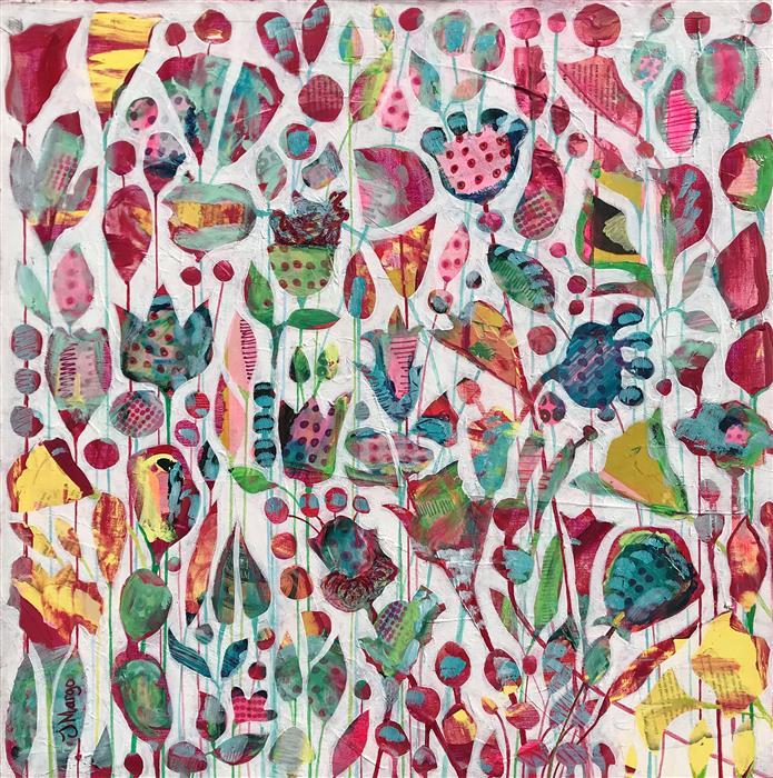Original art for sale at UGallery.com | Wonderland by Joyanna Margo | $925 | mixed media artwork | 24' h x 24' w | ..\art\mixed-media-artwork-Wonderland