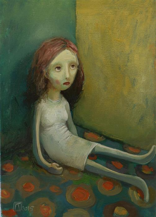 Original art for sale at UGallery.com | Rag Doll by Krzysztof Iwin | $1,600 | oil painting | 17.71' h x 13.78' w | ..\art\oil-painting-Rag-Doll