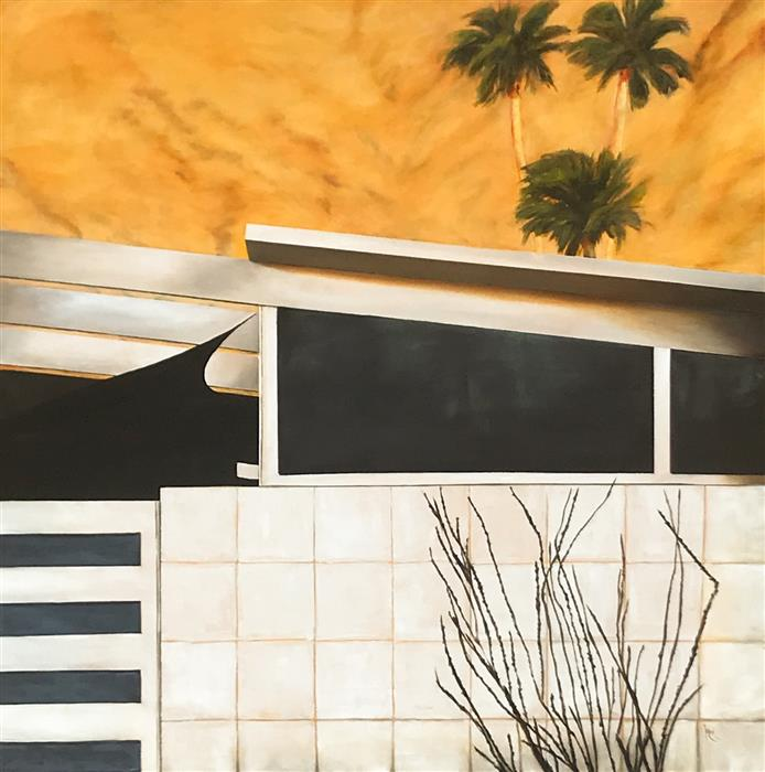 Original art for sale at UGallery.com | Mid Century Modern XXII by Mandy Main | $3,800 | oil painting | 48' h x 48' w | ..\art\oil-painting-Mid-Century-Modern-XXII
