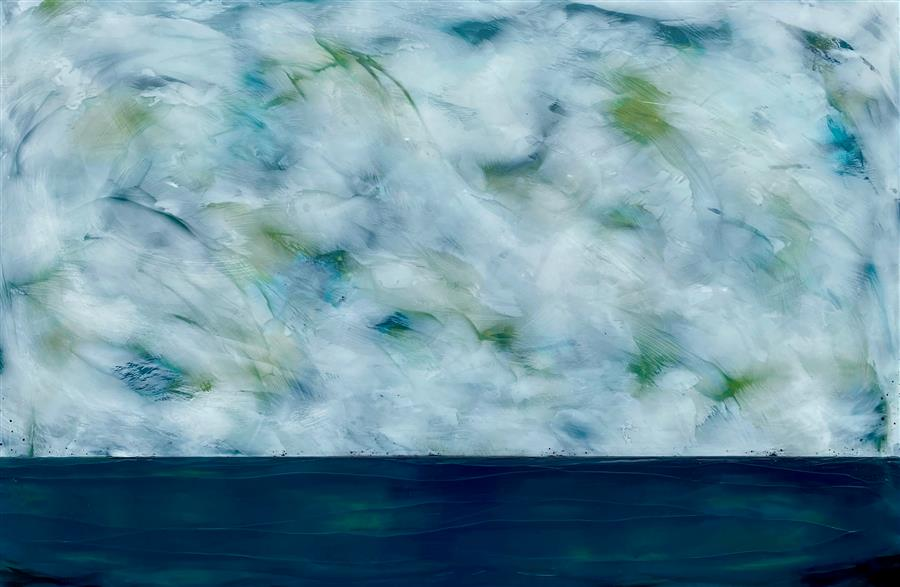 Original art for sale at UGallery.com | Untamed Wind by Tamera Abate | $2,000 | encaustic artwork | 24' h x 36' w | ..\art\encaustic-artwork-Untamed-Wind
